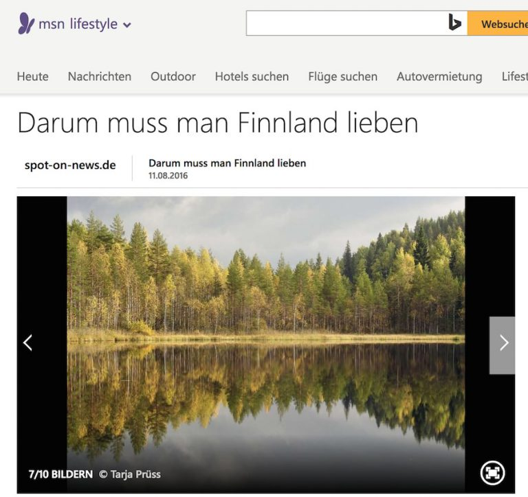 Rezension zum Buch 111 Gründe Finnland zu lieben bei msn.de