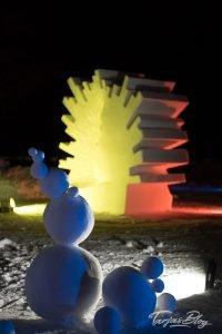 1. Baltic Snow Call in Oulu Finnland - Lightshow in der Nacht