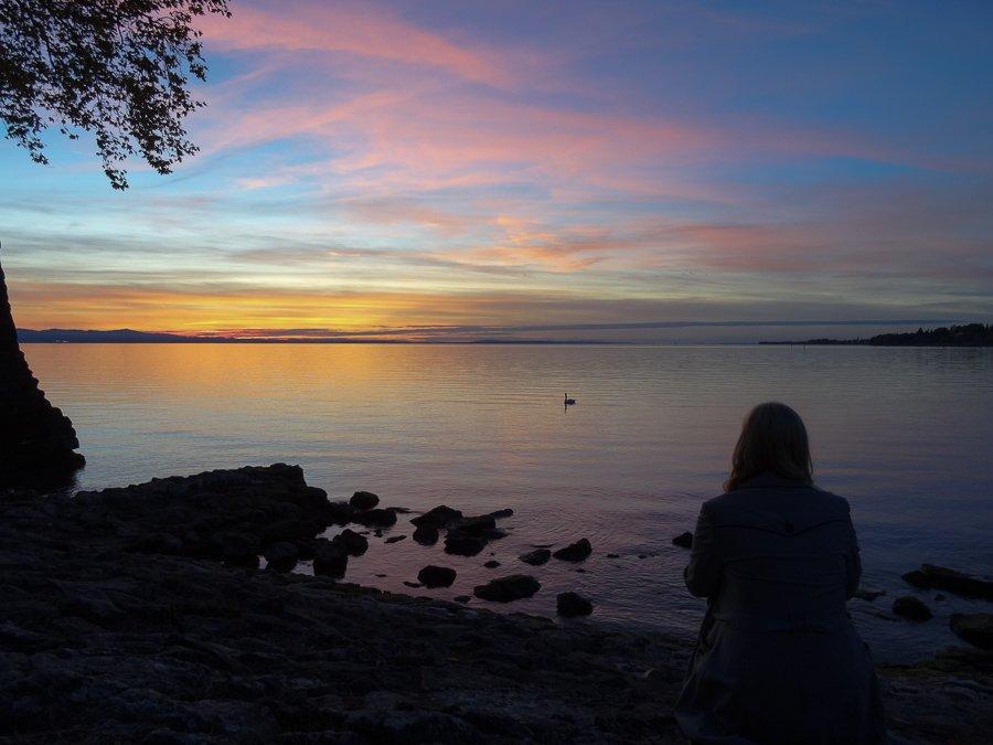Sonnenuntergang am Bodensee © Tarja Prüss | Tarjas Blog - Reiseblog Finnland