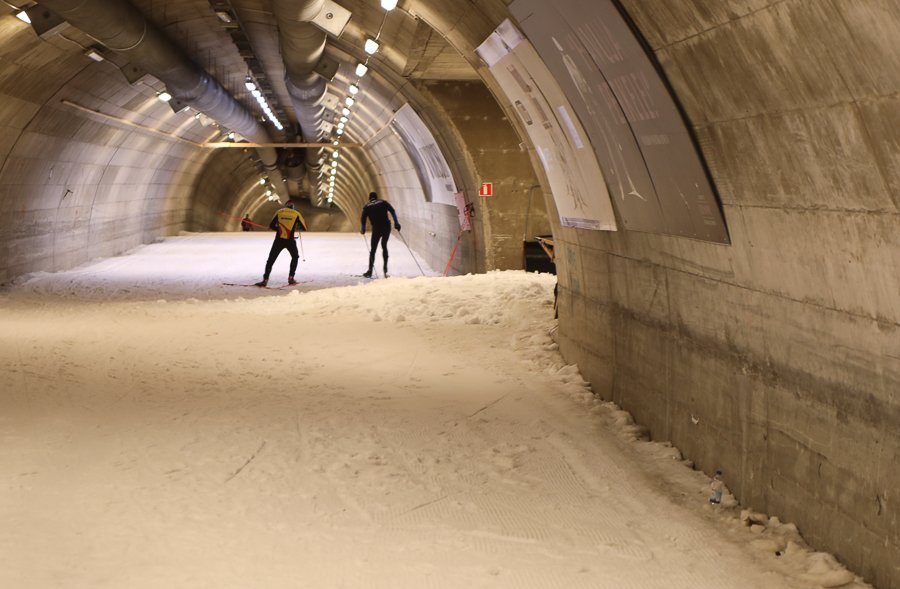 Vuokatti Finnland: Ski Tunnel ©Foto: Tarja Prüss | Tarjas Blog - Reiseblog