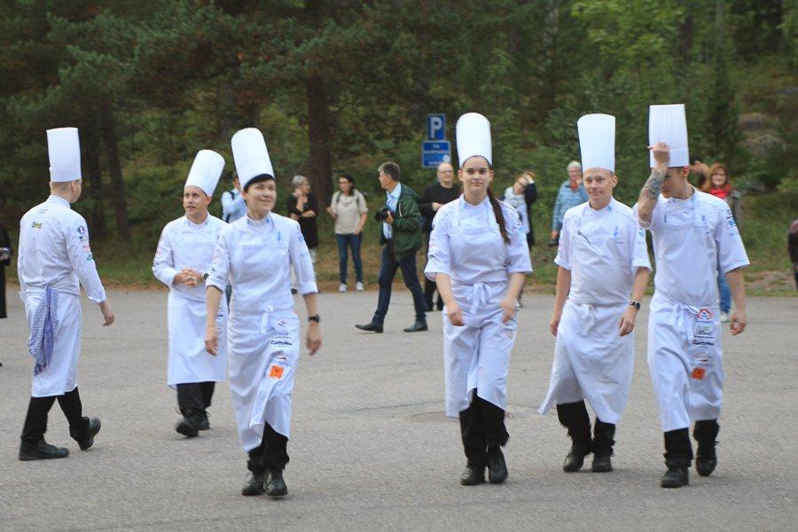 Koeche in Helsinki auf dem Weg zur Koch-WM ©Foto: Tarja Prüss | Tarjas Blog - Resieblog Finnland