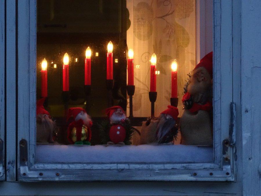 Finnisches Weihnachtsessen - Fenster in Rauma ©Foto: Tarjas Blog