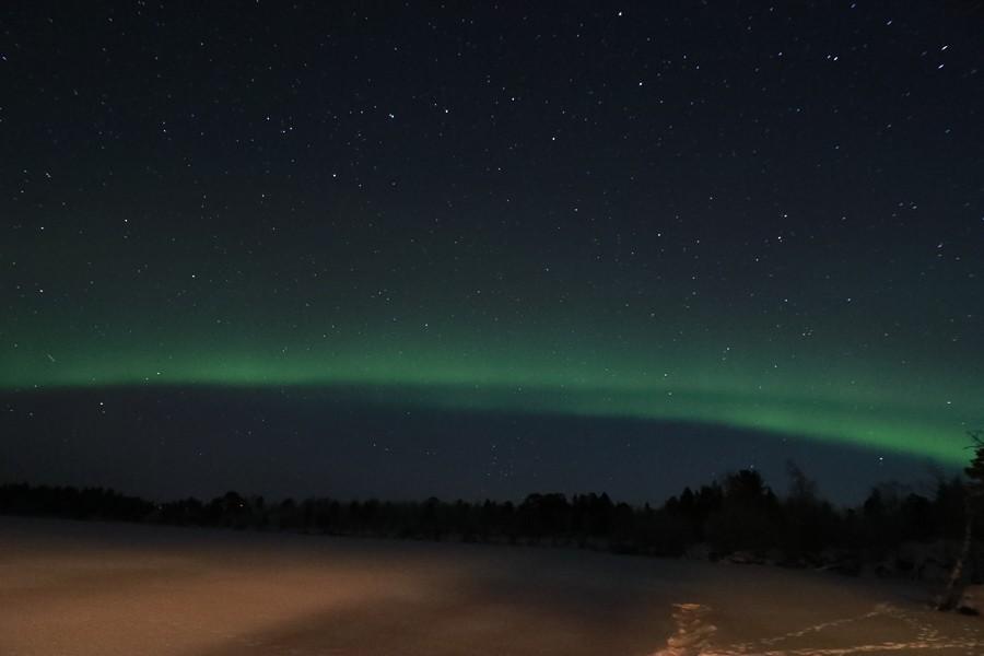 Polarlichter in Lappland - Inari See. ©Foto: Tarja Prüss | Tarjas Blog - Reiseblog Finnland