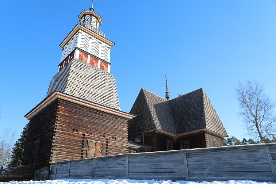Kirche von Petäjävesi, ©Foto: Tarja Prüss   Tarjas Blog - Reiseblog Finnland