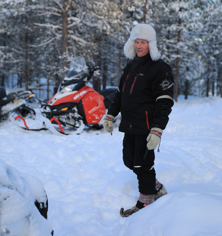Osmo und seine Rentiere in Lappland - Inari ©Foto: Tarja Prüss   Tarjas Blog - Reiseblog Finnland