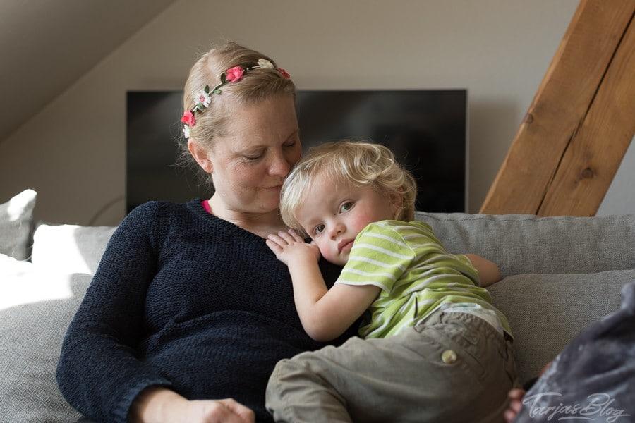 Kati Niemi mit ihrem Sohn Kimi