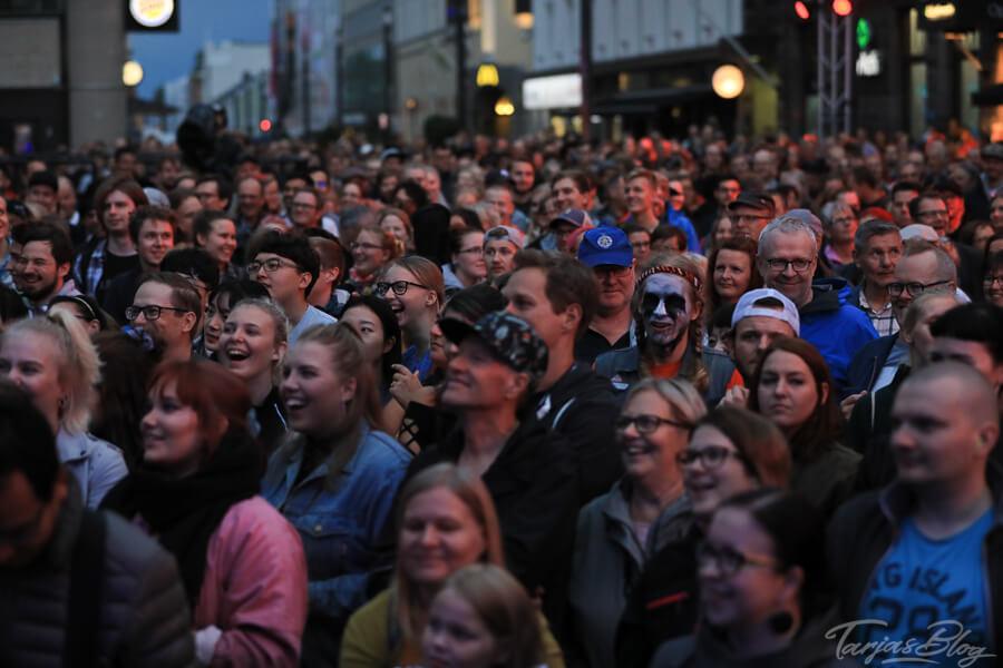Zuschauer bei Luftgitarren WM in Oulu ©Foto: Tarja Prüss | Tarjas Blog - Alles über Finnland