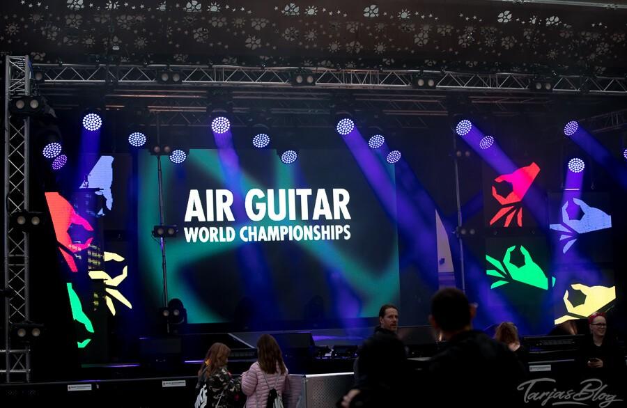 Die Bühne Luftgitarren WM in Oulu ©Foto: Tarja Prüss | Tarjas Blog - Alles über Finnland