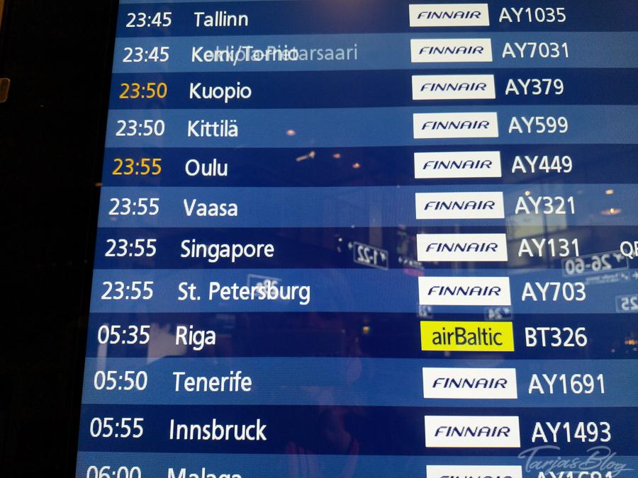 Airport Helsinki: Abflugplan ©Foto: Tarja Prüss | Tarjas Blog - Alles über Finnland