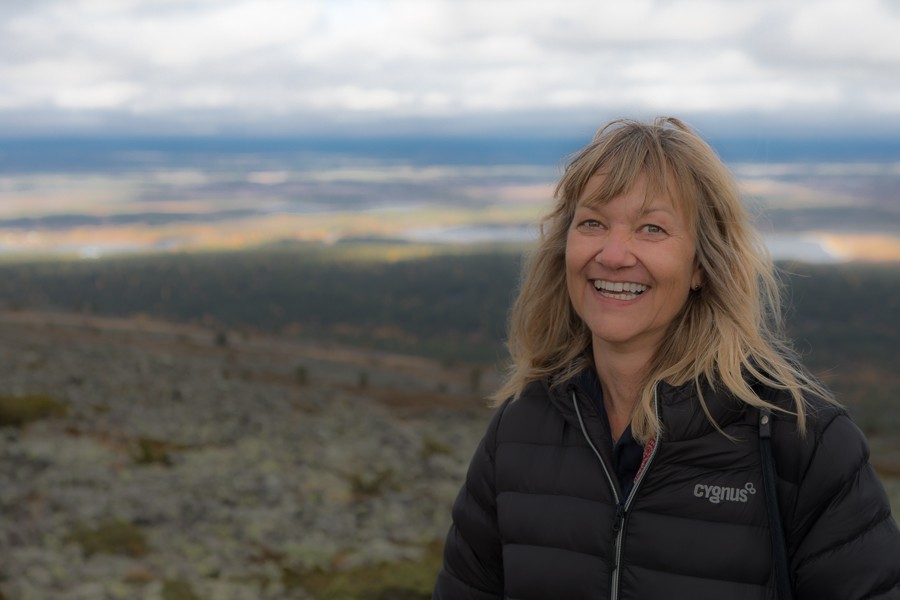 Tarja Prüss in Lappland