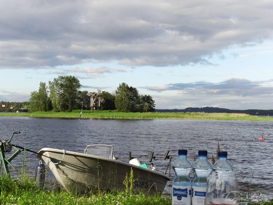Ausblick Kuopio auf See ©Foto: Tarja Prüss - Tarjas Blog - Reiseblog Finnland