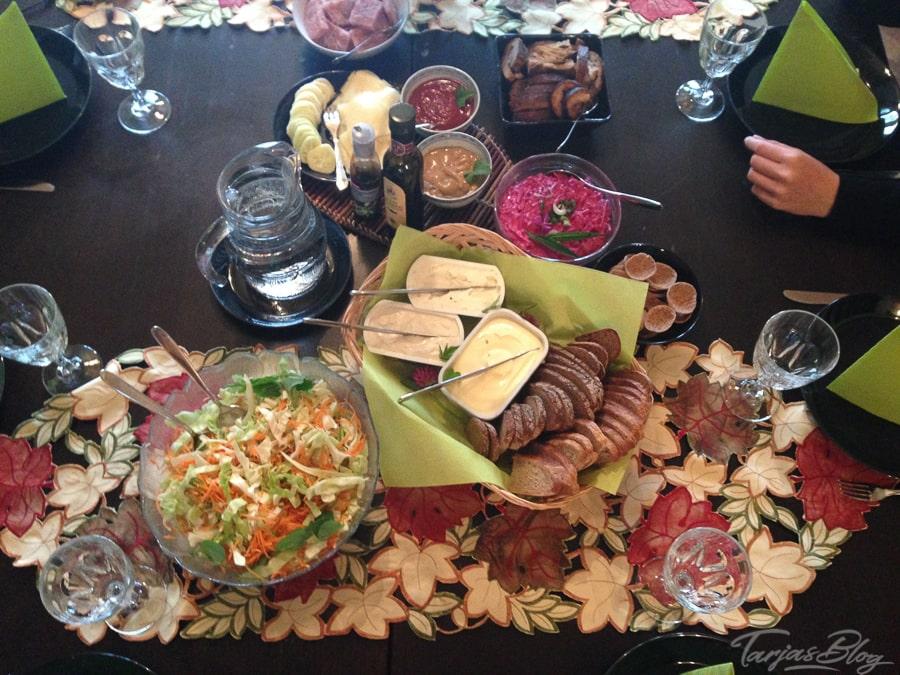 Abendbrottisch Haapaniemi ©Foto: Tarja Prüss - Tarjas Blog - Reiseblog Finnland