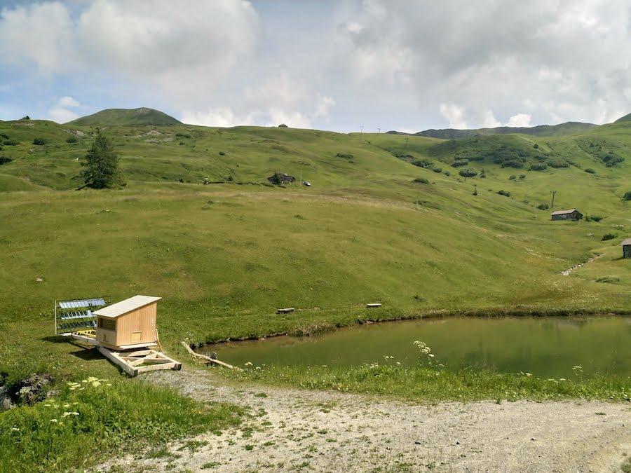 Solarsauna in Heuberge Fideris in der Schweiz