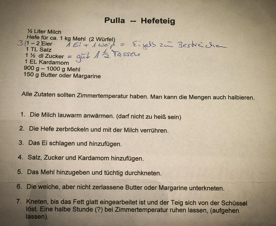 Rezept für finnische Pulla