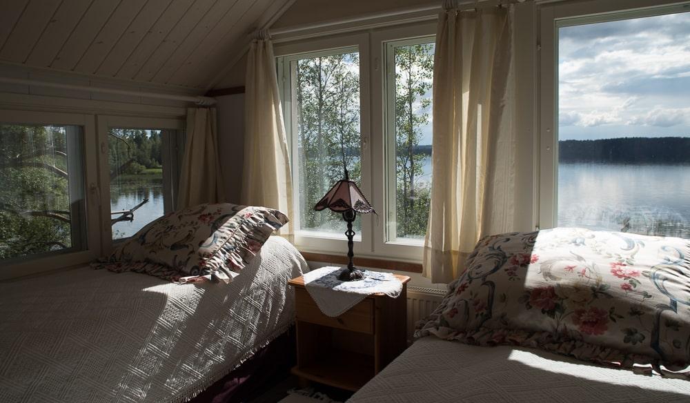 Blick vm Sommerhaus auf den See - Haapaniemi Kuopio ©Tarja Prüss - Tarjas Blog