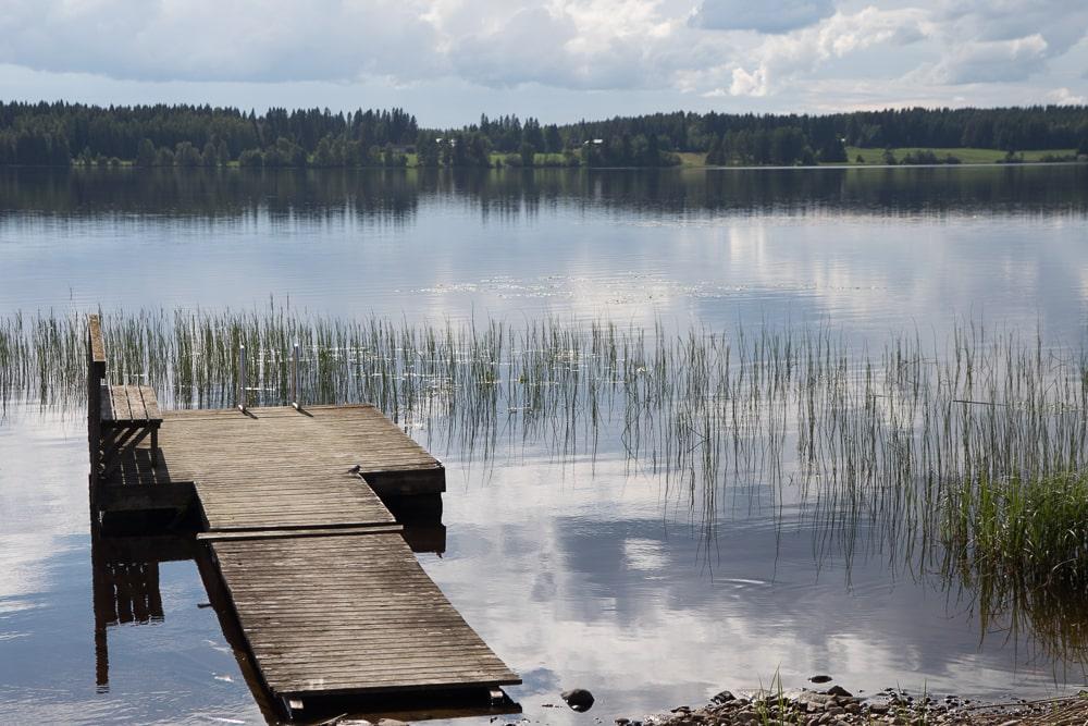 Finnischer See mit Steg ©Tarja Prüss - Tarjas Blog