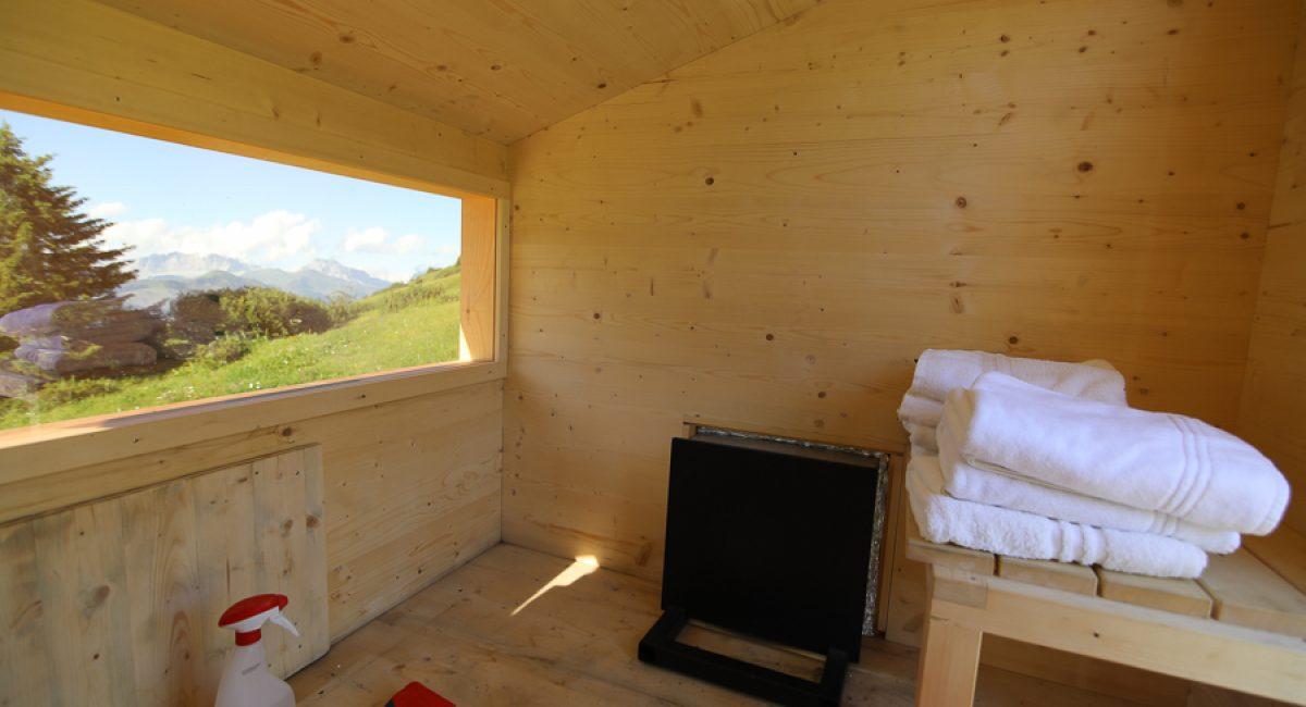 Solar Sauna in Fideris Schweiz ©Foto: Tarja Prüss - Tarjas Blog - Finnland